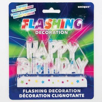 Happy Birthday Flashing Cake Decor